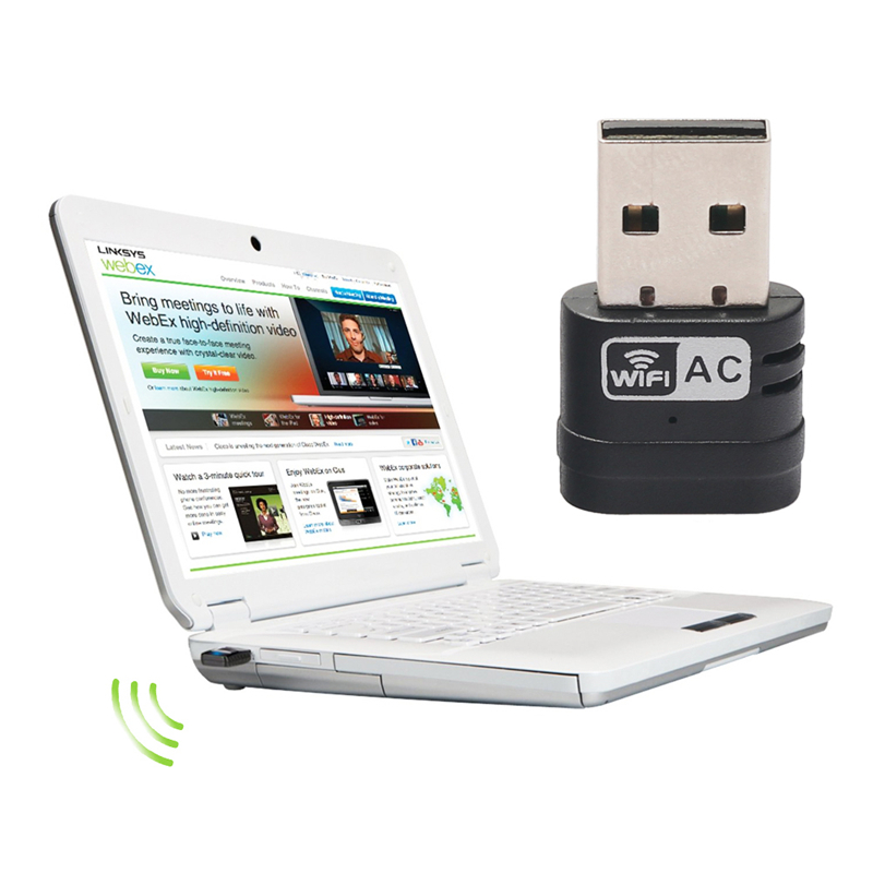 Hot Sale Mini PC Wifi Adapter 433Mbps USB WiFi Antenna Wireless Computer Network Card 802.11ac/a/b/g/n LAN Promotion New(China (Mainland))