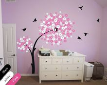 Buy Modern Baby Nursery Wall Decals, Tree Wall Decal, Blossom Decal, Handmade DIY Removable wallpaper size 76*82.7inches for $51.18 in AliExpress store