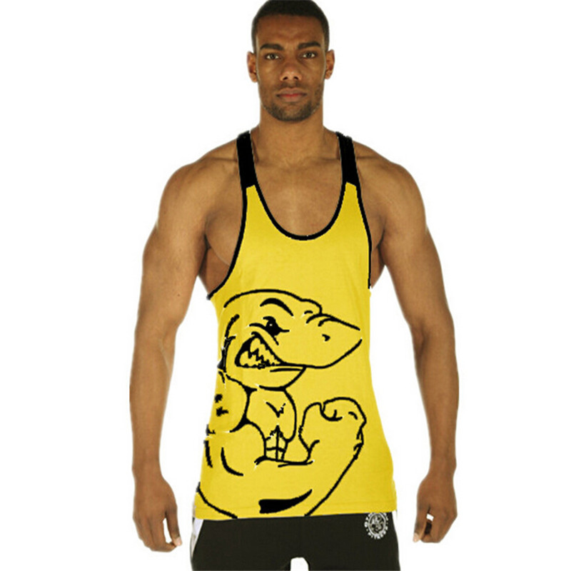 Brand Gym Shark Mens Tank Tops Stringer Bodybuilding Equipment Fitness Men's GYM Tanks Sports Clothes Gym shark Free shipping()