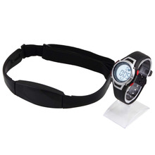 1Pcs 2015 new Heart Rate Monitor Sport Fitness Watch  Favor Outdoor Cycling Sport Waterproof Wireless  With Chest Strap