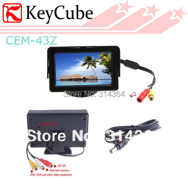 4.3 Inch Color LCD automobile Video Car Monitor Backup Camera Reserve Digital Good Quality Brand New - ShenZhen KeyCube Electronics Co., Ltd store