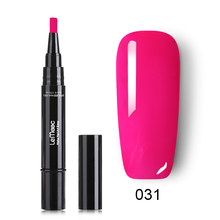 LEMOOC Гель-лак для ногтей ручка сверкающий и сплошной цвет гель для ногтей с блестками лак замачиваемый гибридный УФ-гель для ногтей(China)