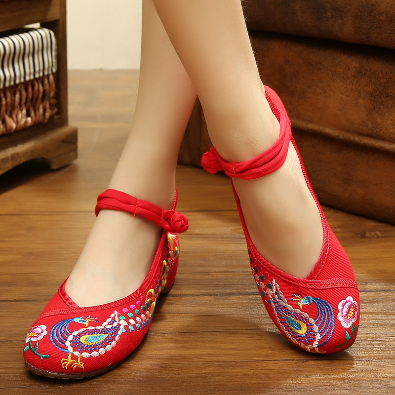 Fashion Old Peking Cloth Shoes Mary Janes Flats Embroidery Shoes Size 34-40 Chinese Style Casual Shoes Woman<br><br>Aliexpress