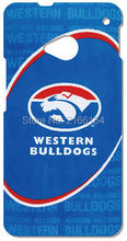 Retail Western Bulldogs Plastic Hard Cover For HTC one X M7 M8 Mini M9 Plus M10 E8 A9 Desire 510 eye M910x Cell Phone Case