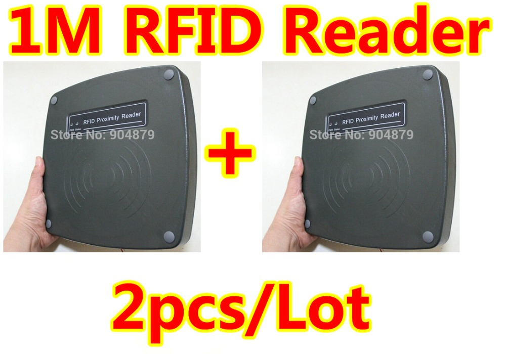 2 pcs Lot RFID 1 meter long range reader Car Parking Reader with 125Khz withwiegand26 Need