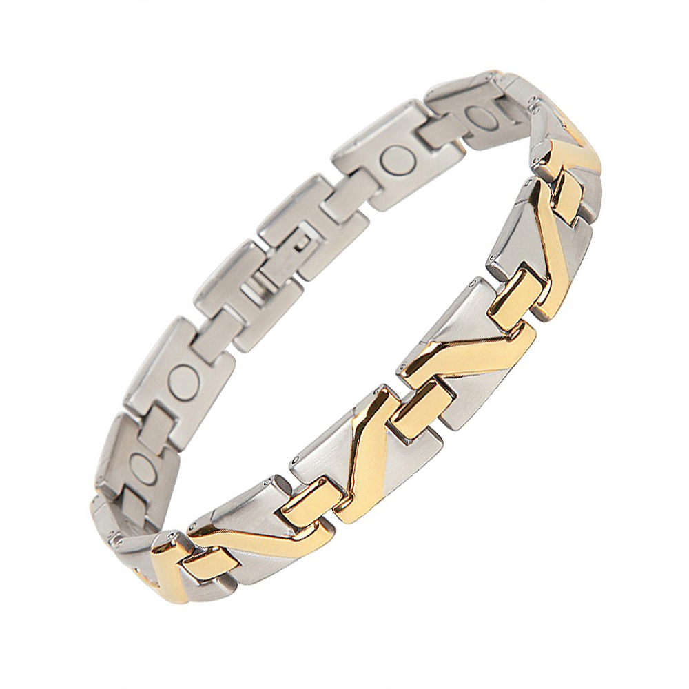 Free Shipping 2014 Fashion Jewelry Healing Magnetic 316L Stainless Steel Bracelet For Men Or Women 9  OSB-008SG<br><br>Aliexpress