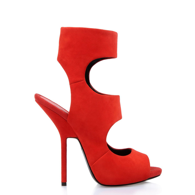 new arrive  2014   fashion  high heel 12cm    Nubuck leather suede red  women shoes  party   women wedding Sandals