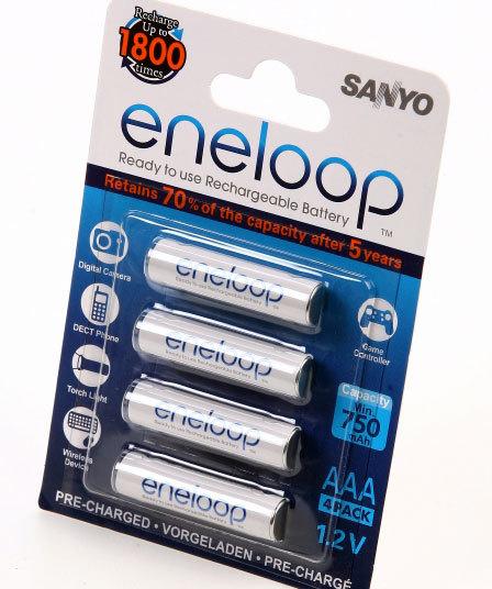 ni-mh aaa Sanyo 1.2v 750mAh nimh rechargeable battery / Sanyo aaa batteries cordless phone telephone , keyboard and mouse(China (Mainland))