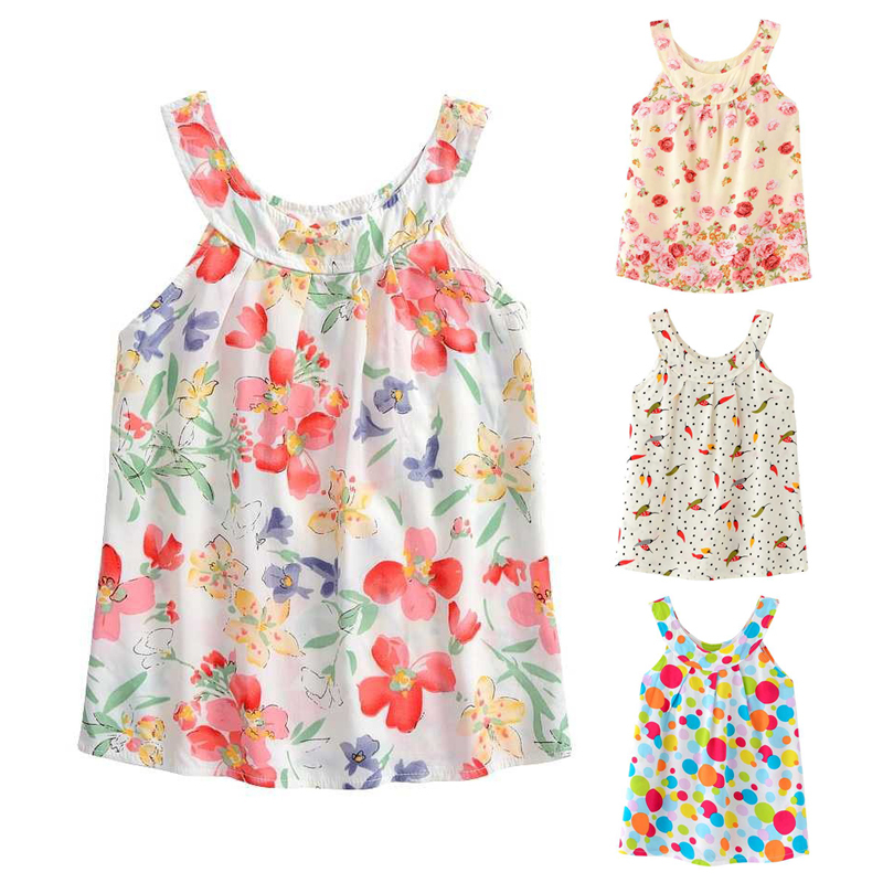 2-6 Y Summer girl dresses Baby Clothing dress girls Clothes kids animal design cat dog rabbit print Cotton flower(China (Mainland))