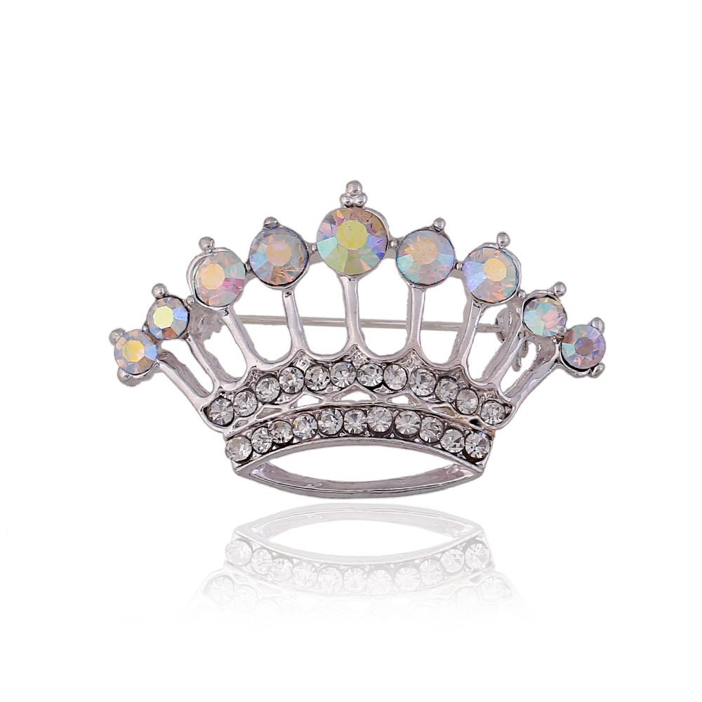 2015 new Fashion Wedding Rhinestone Exquisite Crowne Brooches Crystal Cheap Woman Brooches Pins Wholesale Jewelry Gift(China (Mainland))