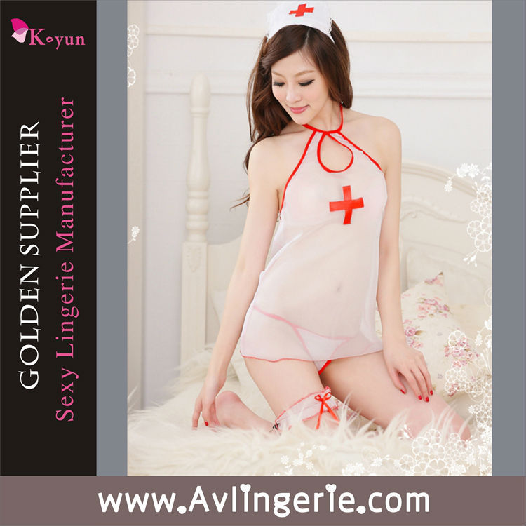 2015 high quality Free shipping China supplier sexy nurse uniform dress Cheap sexy lingerie products(China (Mainland))