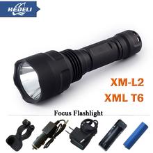 powerful led flashlight cree XML T6 XM-L2 torch Flashlight led lantern lanterna lamp Hiking Camping Waterproof flash light(China (Mainland))