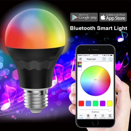 Smart Bluetooth LED Bulb A19 LED Light Bulb - 7.5W 60W Equivalent - RGBW Multi Colors Dimmable WIFI LED Bulb<br><br>Aliexpress