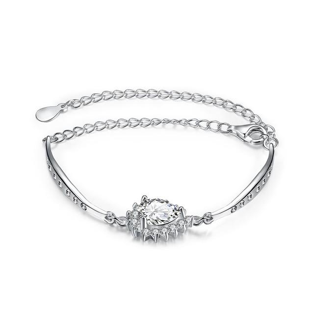 Новый горячая распродажа оригинальный стерлингового серебра серебристо-ювелирные проложить CZ каменные мерцание шарм браслеты , совместимой с DIY ювелирных