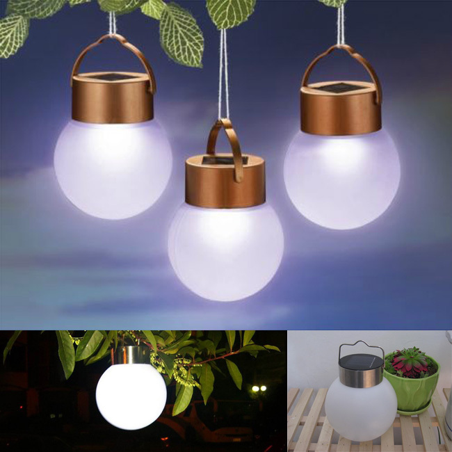 2015 solar ball lamp Outdoor waterproof Solar led lights,Portable Camping lamp for outside garden Tree decoration solar lamp(China (Mainland))