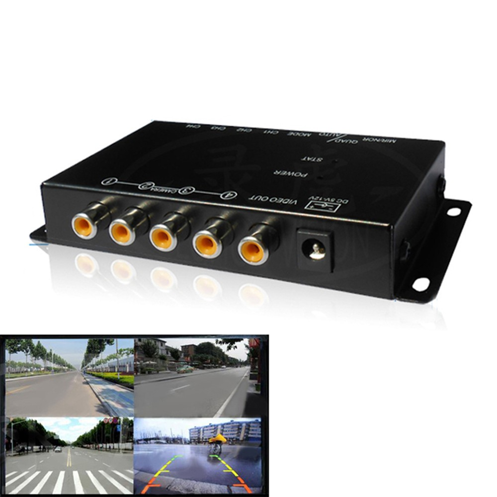 IR control 4 Cameras Video Control Car Cameras Image Switch Combiner Box for Car DVD Player Radio Stereo PC GPS Navigation(China (Mainland))