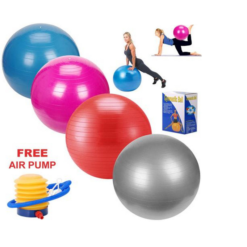 Tiling 65cm Anti Burst Gym Exercise Yoga Fitness Ball Office Slimming Thin Body Weight Loss Goals Sport Pilates Ball+Air Pump(China (Mainland))