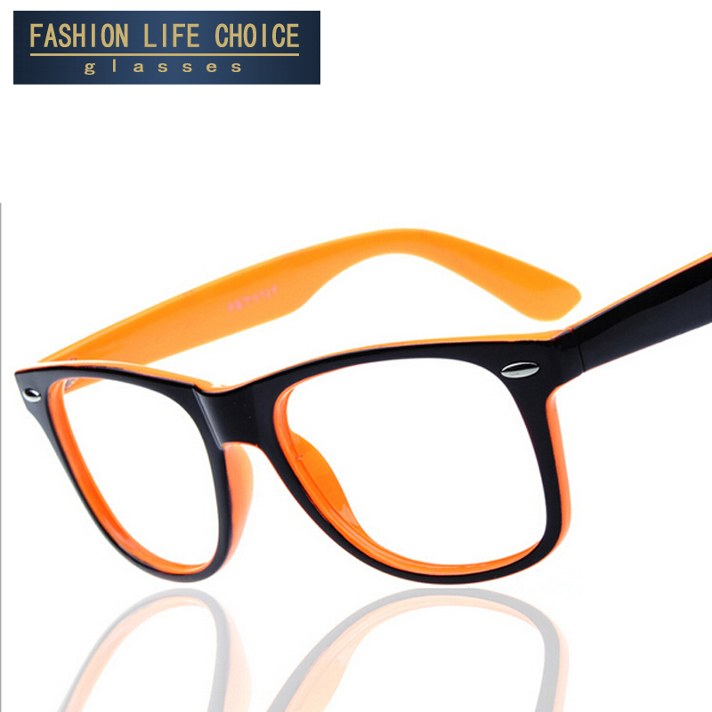 2016 fashion big glass frame without lenses round eye ...