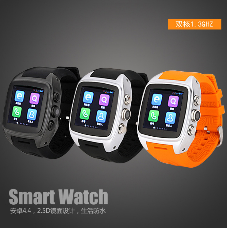 Smart X01 MTK6572 Dual Core Android Watch Phone WCDMA 3G watch phone with Heart Rate Monitor and Predometer(China (Mainland))