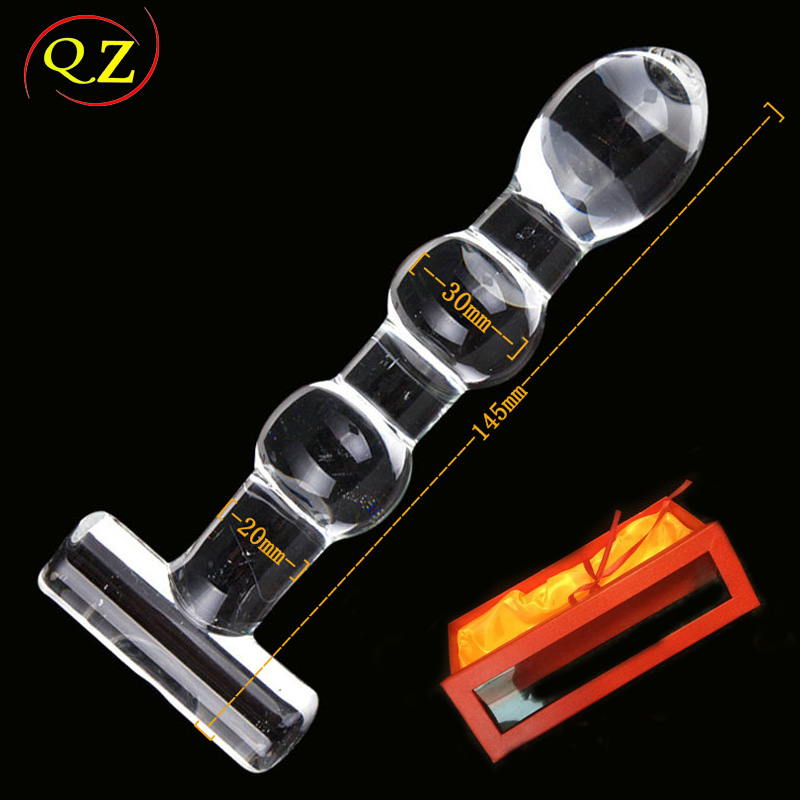 Three large beads Crystal glass female masturbation sex anal plug for women and men anal sex toys<br><br>Aliexpress