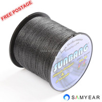 Free Shipping 8 strands SUNBANG Brand Super Strong Japanese 300m Multifilament PE Braided Fishing Line30 40 50 60 70 80 90 100LB
