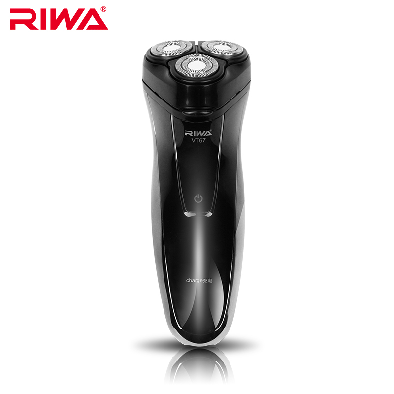 New Riwa VT-67 Rechargeable Waterproof Electric Shaver Triple Blade Electric Shaving Razor Men's Face Care 3D Floating Shaver(China (Mainland))