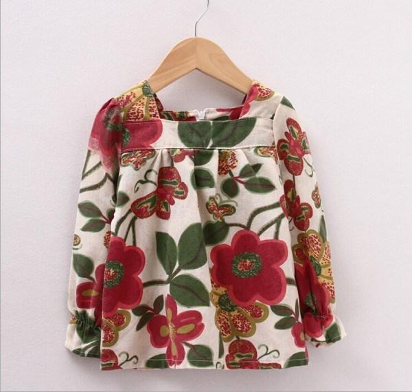 baby girls korean style shirts children floral printing long sleeve T-shirt flower girl princess shirt kids clothes JL-2307<br><br>Aliexpress