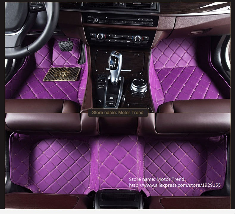 Customized car floor mats for Ford Explorer U502 Kuga Escape Fusion Edge Fiesta Mk7 focus rugs carpet all weather liners(China (Mainland))