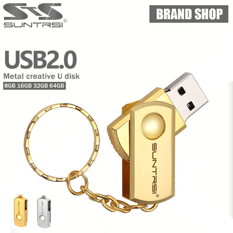 Suntrsi USB Flash Drive Swivel Pen 32GB Stainless Steel Pendrive 16GB/8GB/4GB Metal Stick High Speed Memoria - Yunqifa Digital store
