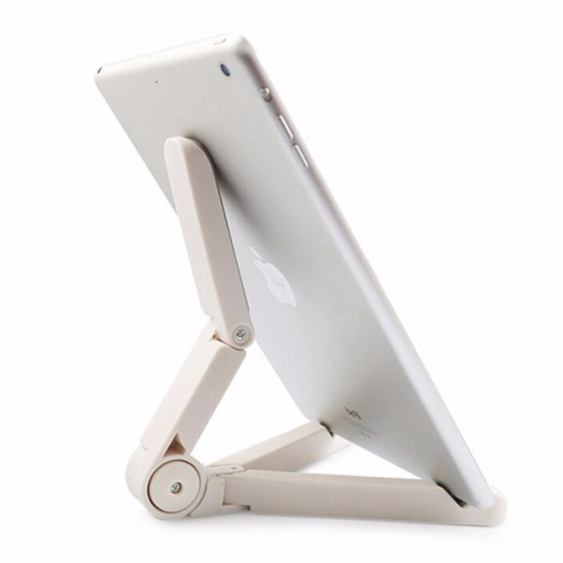 Portable Foldable Tablets PC Stand Holder Adjustable Angle Bracket Mount For iPad Tablets PC Black White Tablet Accessories(China (Mainland))