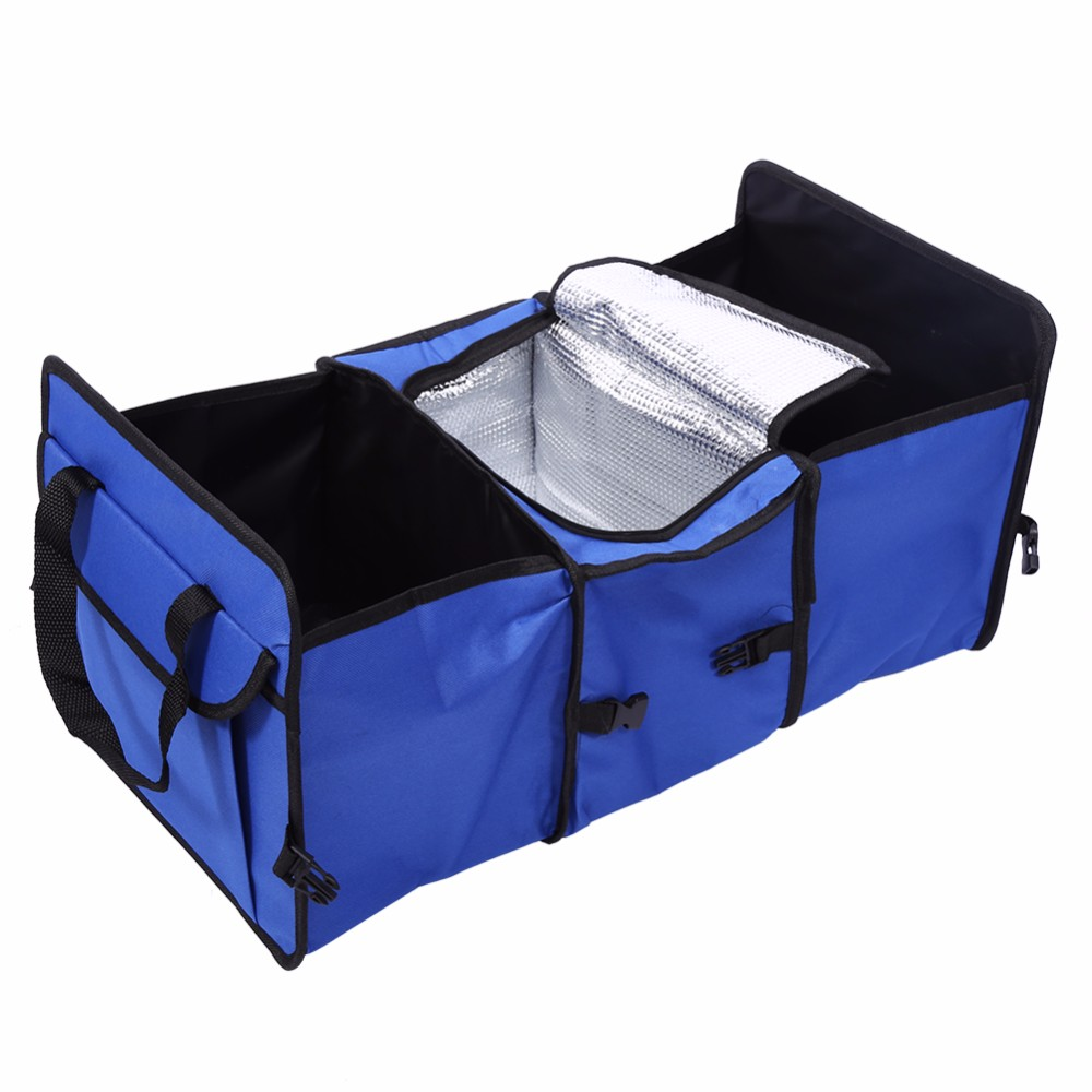 Car Trunk Foldable Cargo Organizer Auto Interior Storage Bag Folding Case Red Car Foldable Storage Oxford Fabric Storage