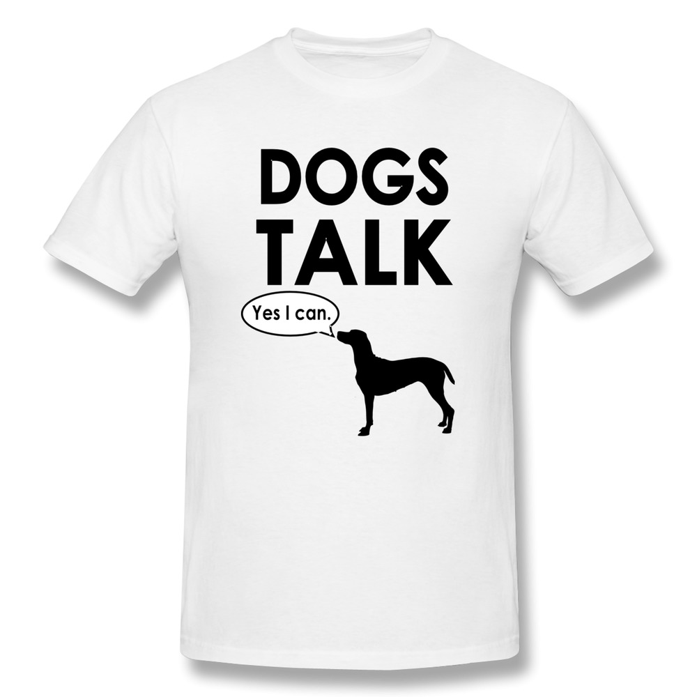 Design your own t-shirt for dogs - Short Sleeve Men T Shirt Dogs Talk Customized Funny Photo Men T Shirts Unique Design