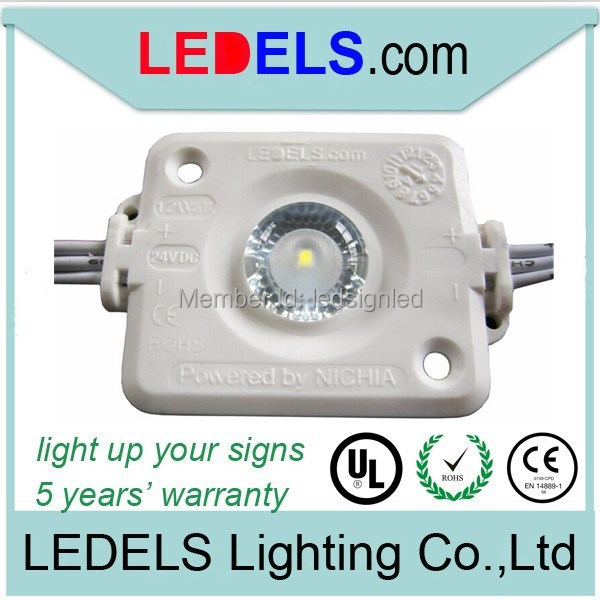 Cost effective led module lights for display cases 24v 1.2watt 120 lumens waterproof 5 year warranty(China (Mainland))