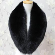 2015 Winter 100% Real Fox Fur Collar Fox Whole Skin Scarf For Christmas Gift (China (Mainland))