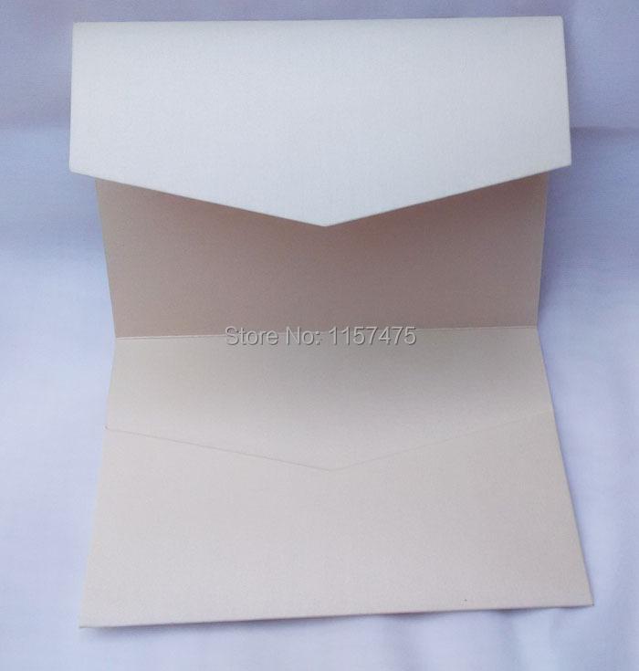 HI5004 - Optional Colors Pocket Fold Wedding Invitation Cards For DIY Invitation(China (Mainland))
