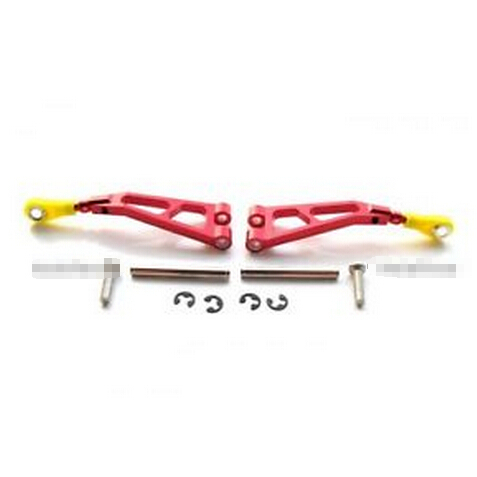 Kyosho Mini Inferno ST Aluminum Front Upper Arm With Pins 1 Pair Set Red GPM(China (Mainland))