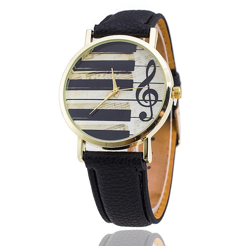 Гаджет  New Fashion Leather Strap Piano Keys Watch Women Wristwatch Dress Watches Quartz Watch AW-SB-1499 None Ювелирные изделия и часы