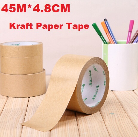 45M*4.8CM/Vintage Blank Kraft Paper Adhesive Tape/package tape/DIY Multifunction seal sticker for handmade product/Wholesale(China (Mainland))