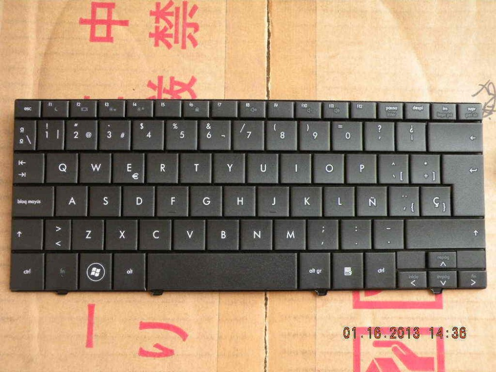 QWERTY Hot sale laptop computer keyboard for HP Mini 110 MINI110 533551-071 535689-071 Spanish sp UK-SP Spain Layout(China (Mainland))