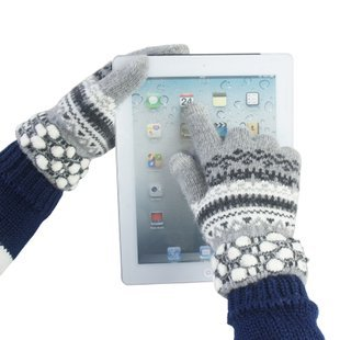 T09 Touch Screen Gloves  Womens Winter Running Pair I Texting Phones - Black Red Blue Gray Sky blue