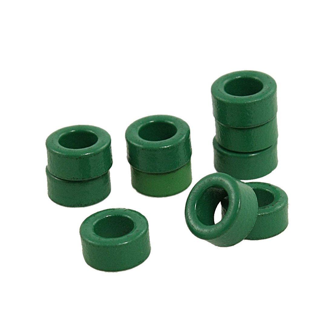 FJS Wholesale 10 Pcs Inductor Coils Green Toroid Ferrite Cores 10mm x 6mm x 5mm<br><br>Aliexpress