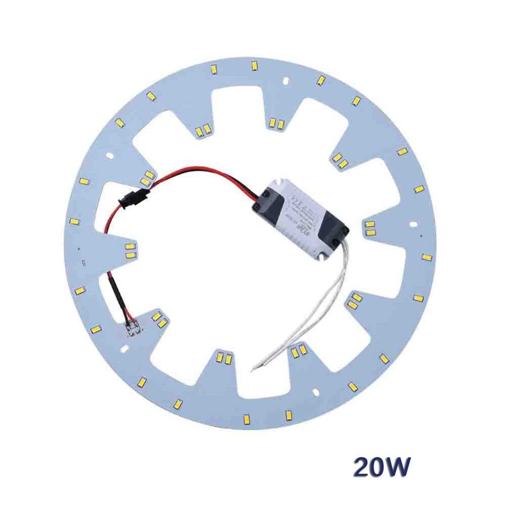 LED Ceiling Lights Panel Board SMD 5730 85-265V 20W Ring PCB Tube DIY Replacement Fluorescent CFL Lamps+ LED Driver Magnet Screw(China (Mainland))