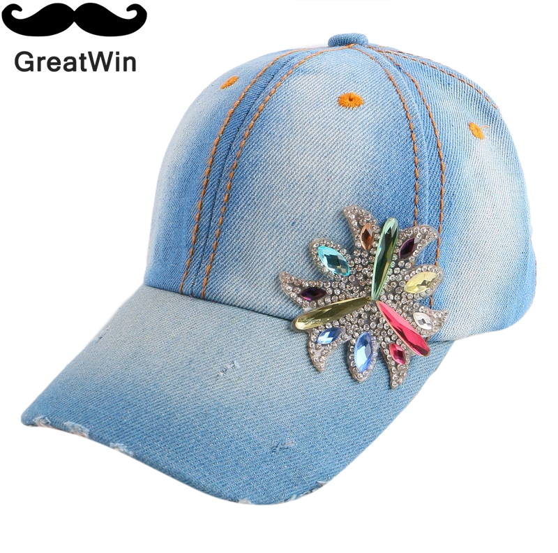 new design fitted boy girl baby lovely baseball cap rhinestone floral denim cotton children cute snapback hat brand gorras(China (Mainland))