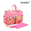 Waterproof baby backpack Maternity mummy mother stroller diaper bag organizer brand one shoulder Floral Nylon travel