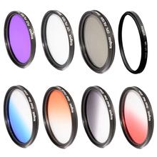 52mm 58MM 67MM 72MM 77MM  Gradual blue sky color  FILTER UV CPL FLD LENS FILTER  for Nikon D3100 D3200 D5200 D7100 18-55mm X