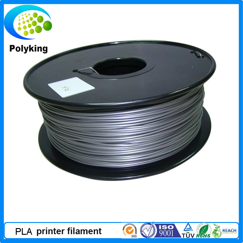 Hot sale 3mm Sliver PLA 3D printer filament for Markerbot RepRap UP Medel