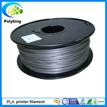 Hot sale! 3mm Sliver PLA 3D printer filament for Markerbot/RepRap/UP/Medel