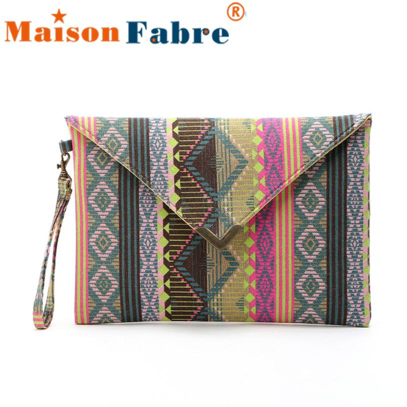 Brand new Women Envelope Clutch Handbag Purse Tote Ladies Canvas Embroided Bag 1 pcs(China (Mainland))