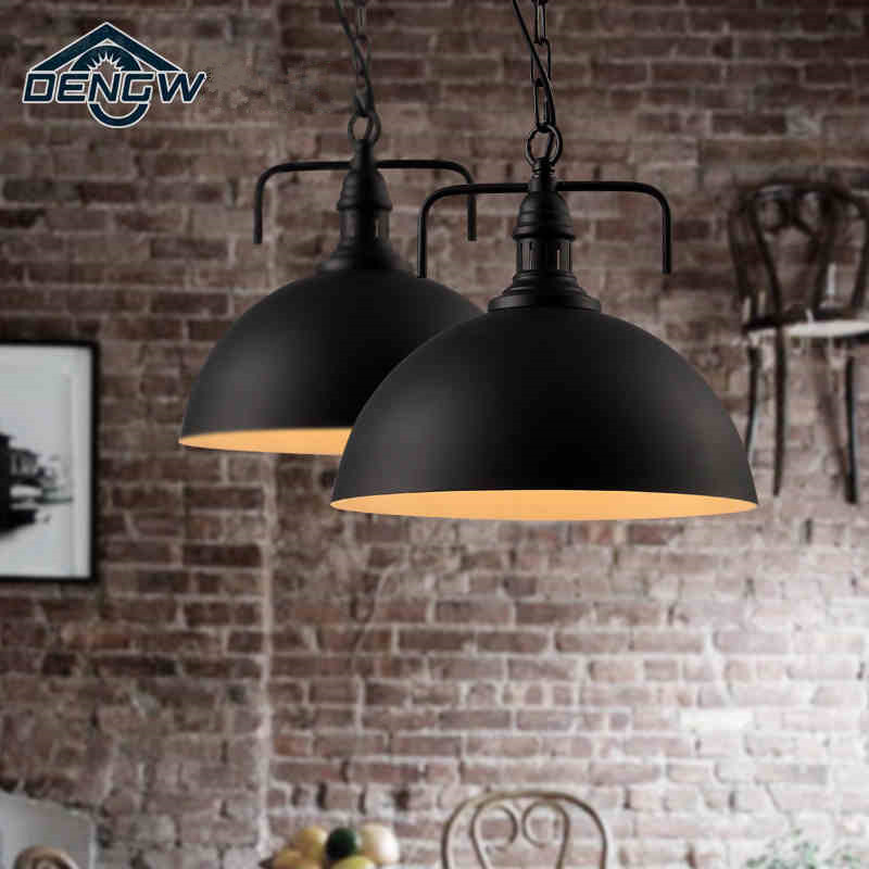 Vintage Pendant Lights loft lamp balcony wrought iron PENDANT Dining room taproom LED lights Free shipping<br><br>Aliexpress