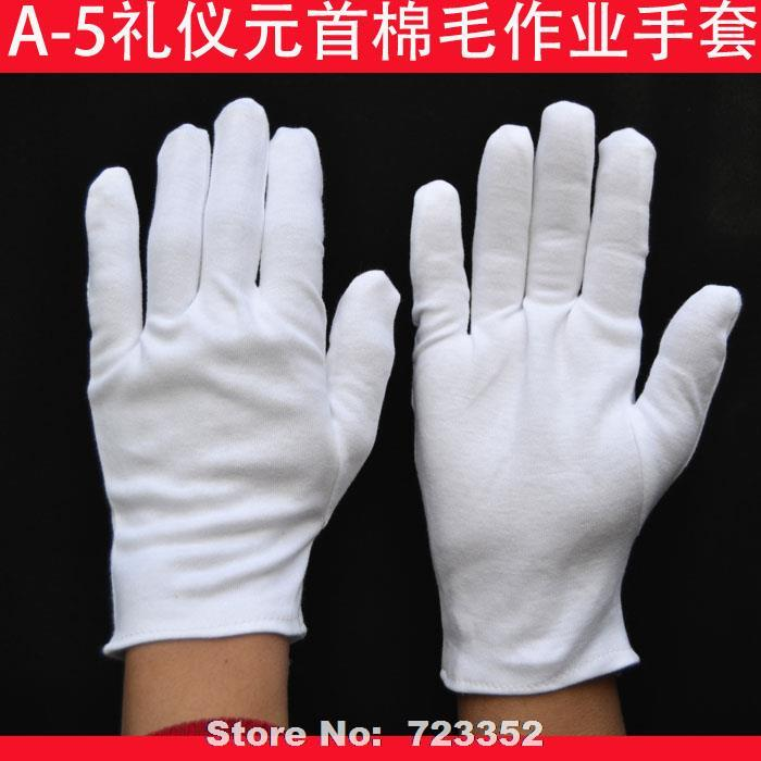 Etiquette head up cotton 100% cotton gloves made of pure cotton with thick gloves etiquette work gloves